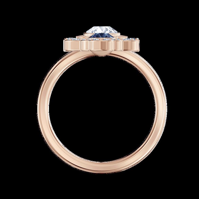 Swarovski Symbolic Motif Ring, Blue, Rose-gold tone plated