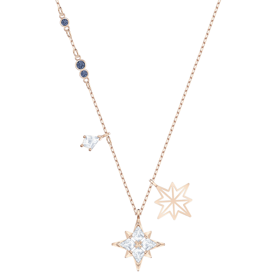 Swarovski Symbolic Star Pendant, White, Rose-gold tone plated