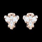 Magic Angel Stud Pierced Earrings, White, Rose-gold tone plated