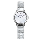 Dreamy Watch, Crystal Mesh strap, White, Stainless steel