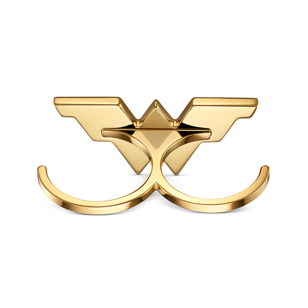 Fit Wonder Woman Double Ring, Gold tone, Mixed metal finish