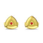 Theo Fire Element Cufflinks, Red, Gold-tone plated