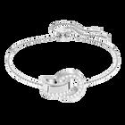 Hollow Bracelet, White, Rhodium Plating