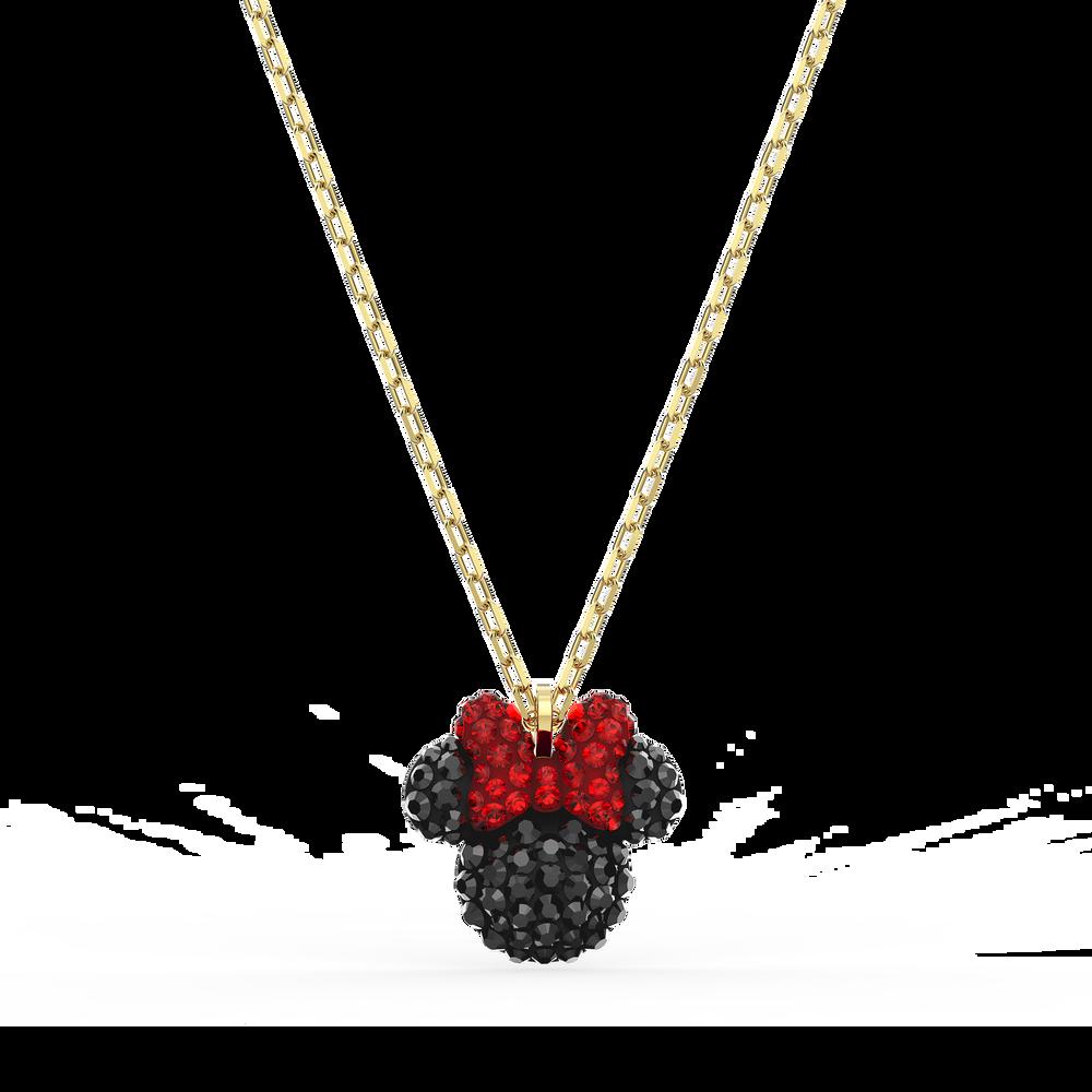 Minnie Pendant, Black, Gold-tone plated