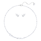 Louison Set, Medium, White, Rhodium Plating