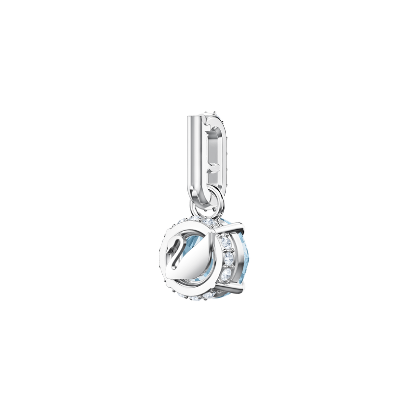 Swarovski Remix Collection Charm, March, Aqua, Rhodium Plating