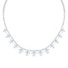 Palace Necklace, White, Rhodium plated