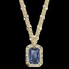 Tarot Magic Pendant, Blue, Gold-tone plated
