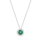 Angelic Pendant, Green, Rhodium plating