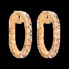 Fluid Hoop Pierced Earrings, Violet, Rose-gold tone plated