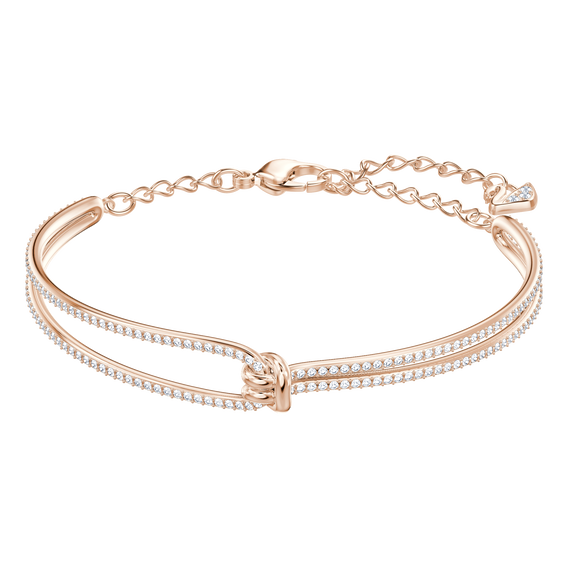 Lifelong Bangle, White, Rose Gold Plating