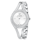Eternal Watch, Metal Bracelet, White, Silver Tone