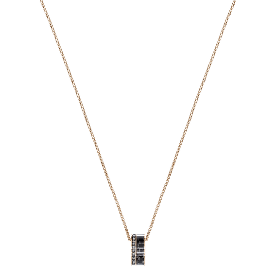 Alto Pendant, Gray, Rose Gold Plating
