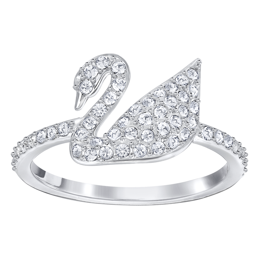 Iconic Swan Ring, Rhodium Plating
