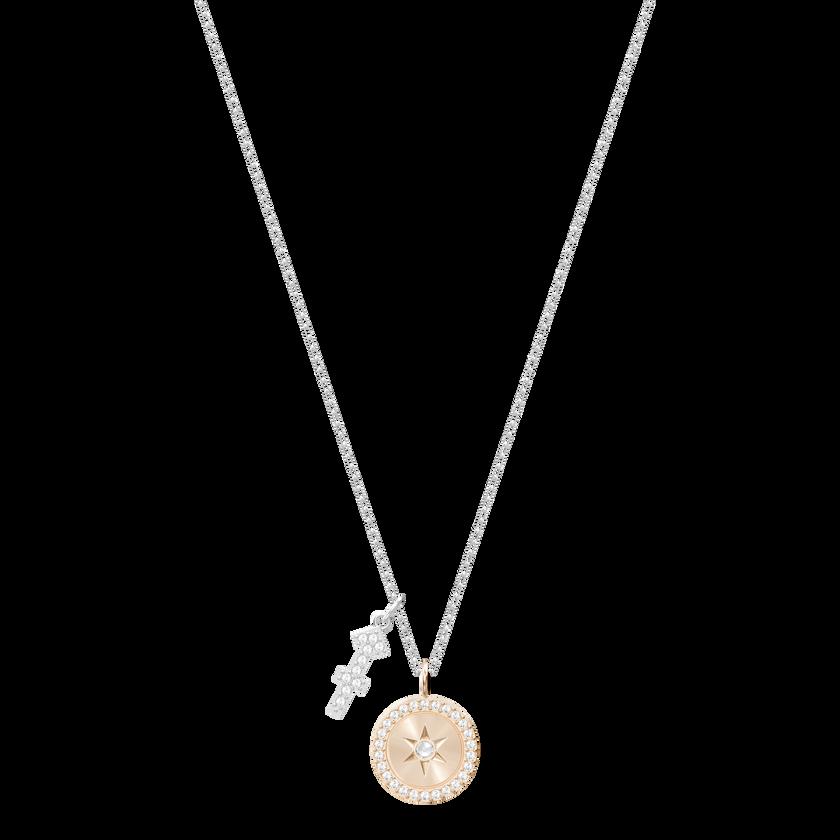 Zodiac Pendant, Sagittarius, Pink, Rhodium Plating