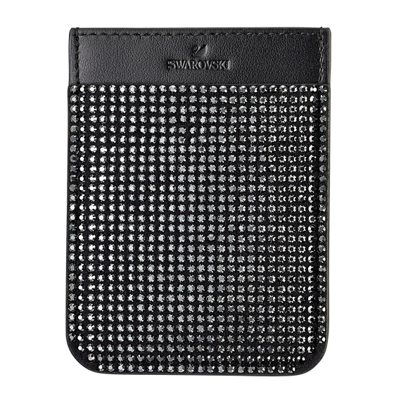 Swarovski Smartphone sticker pocket, Black