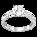 Attract Round Ring, Rhodium Plated