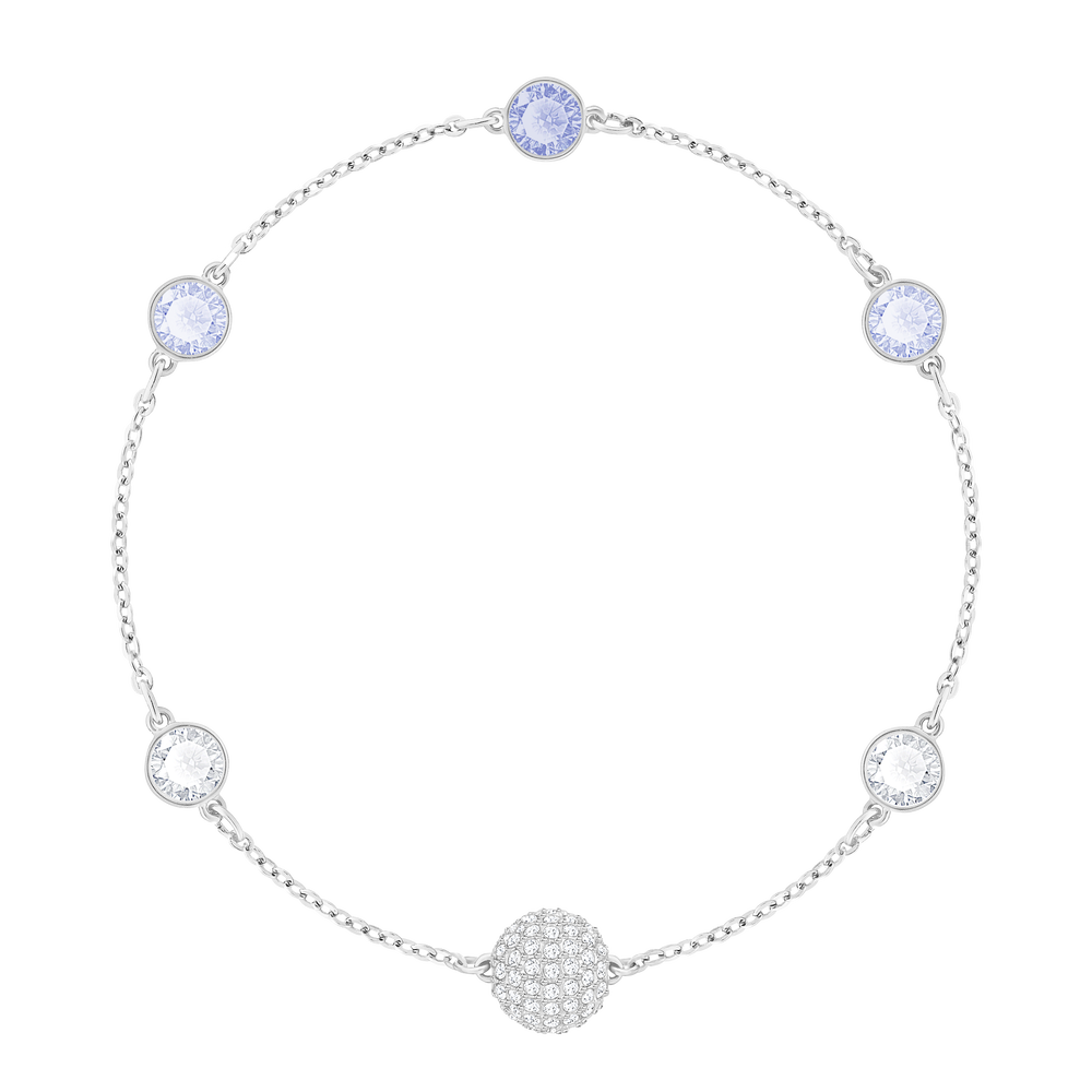 Swarovski Remix Collection Timeless Strand, Blue, Rhodium plated