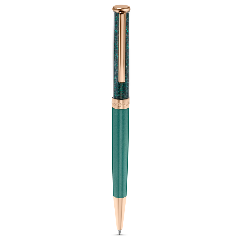 Crystalline Ballpoint Pen, Green, Rose-gold tone plated