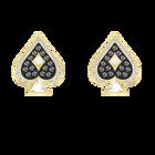 Tarot Magic Stud Pierced Earrings, Multi-colored, Gold-tone plated