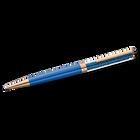 Crystalline Ballpoint Pen, Blue, Rose-gold tone plated