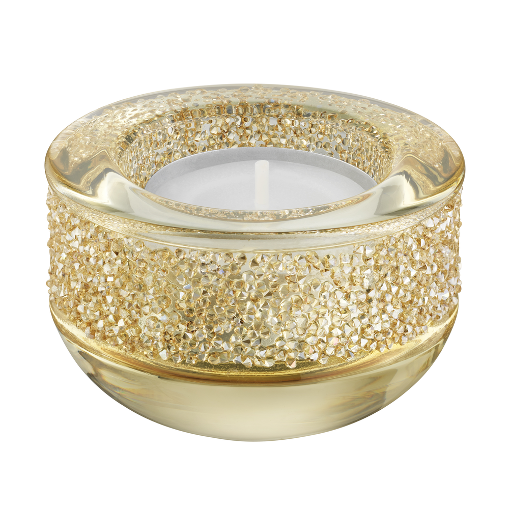 Shimmer Tea Light Holder , Gold Tone