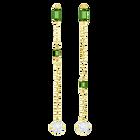 Oz Pierced Earrings, White, Gold tone plated