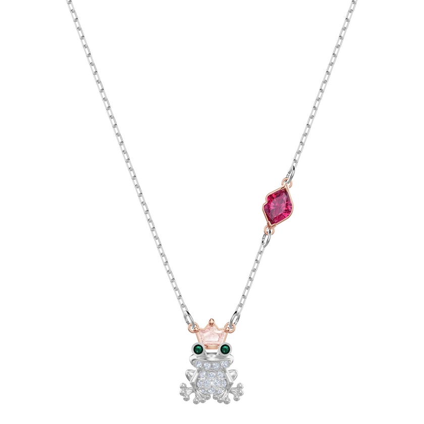Out of this World Kiss Necklace, Multi-colored, Mixed plating