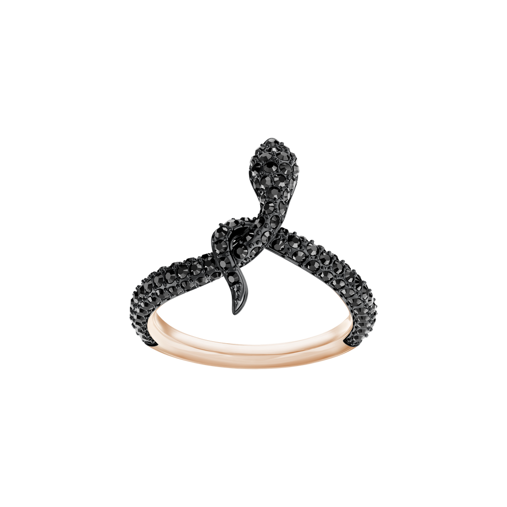 Leslie Ring, Black, Rose Gold Plating
