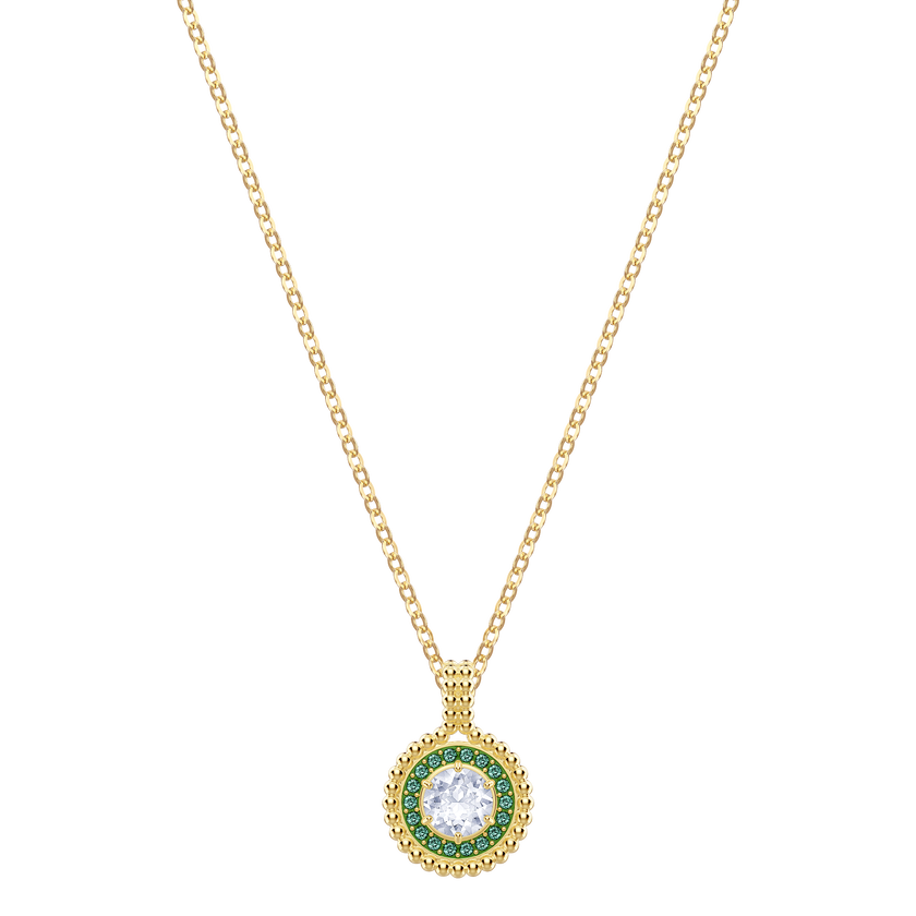 Oxygen Pendant, Multi-colored, Gold plating