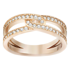 Creativity Ring, White, Rose gold tone plated