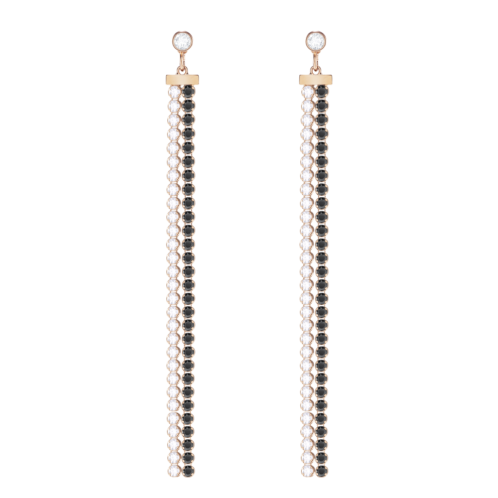 Subtle Pierced Earring Jackets, White, Rose Gold Plating