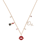 Mine Necklace, Multi-colored, Mixed metal finish