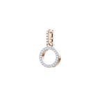 Swarovski Remix Collection Charm O, White, Rose Gold Plating