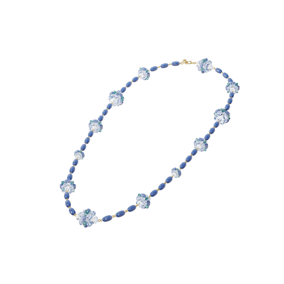 Somnia necklace, Blue, Extra long, Gold-tone plated