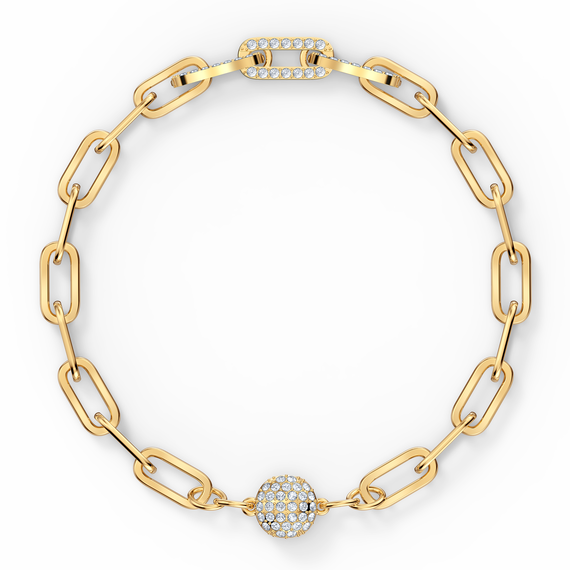 The Elements Chain Bracelet, White, Gold-tone plated