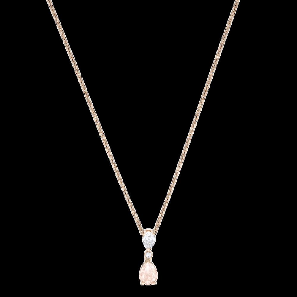 Vintage Pendant, Pink, Rose gold plating
