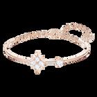Swarovski Symbolic Bangle, White, Rose-gold tone plated