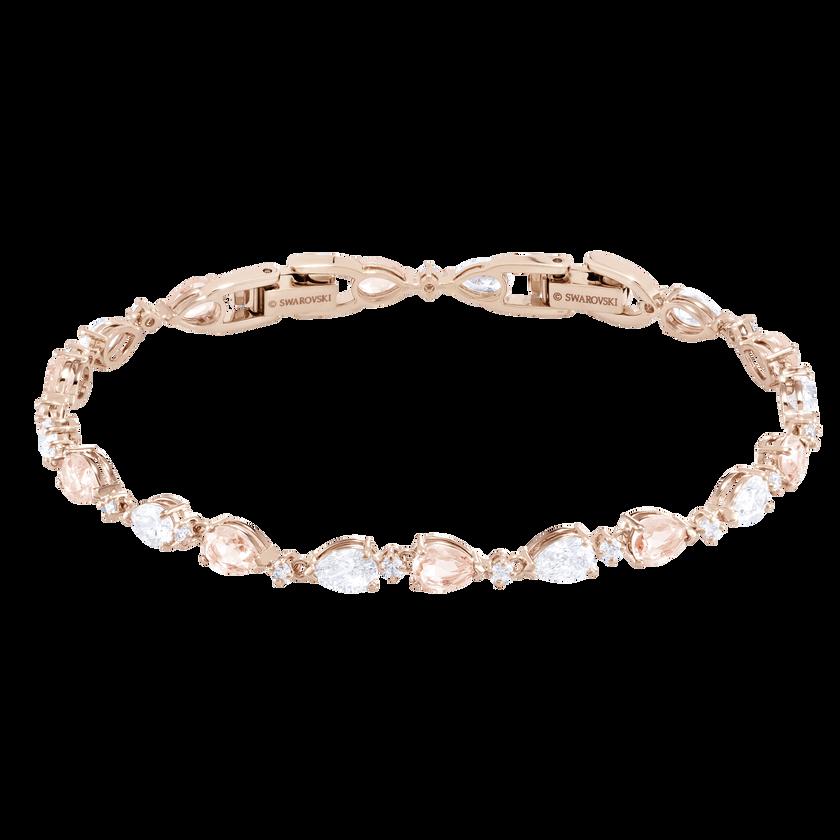 Vintage Bracelet, Pink, Rose gold plating