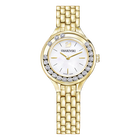 Lovely Crystals Watch, Metal bracelet, Gold-tone PVD