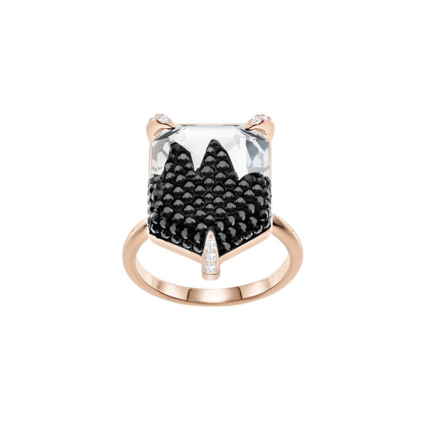 Make Cocktail Ring, Multi-colored, Rose-gold tone plated