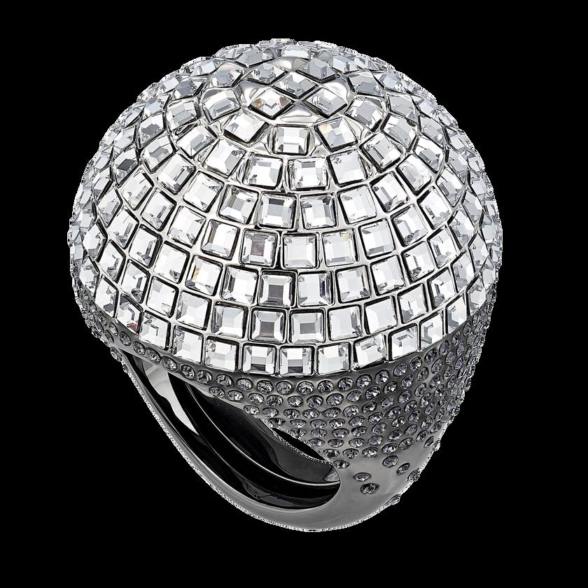Celestial Fit Cocktail Ring, Gray, Black Ruthenium