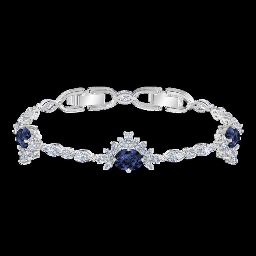 Palace Bracelet, White, Rhodium plated