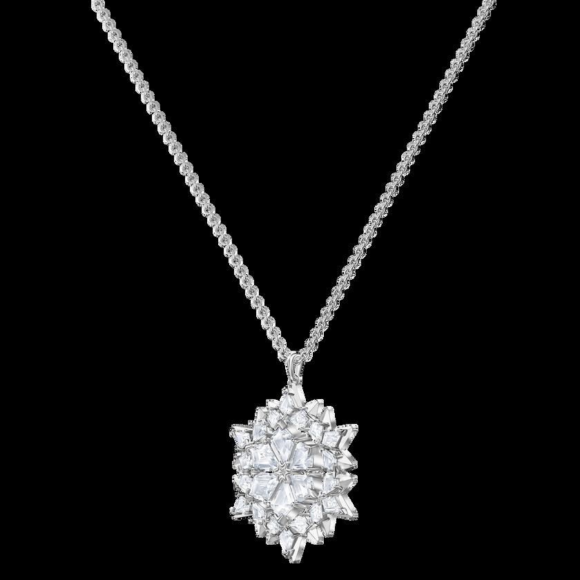 Magic Snow Pendant, White, Rhodium plated