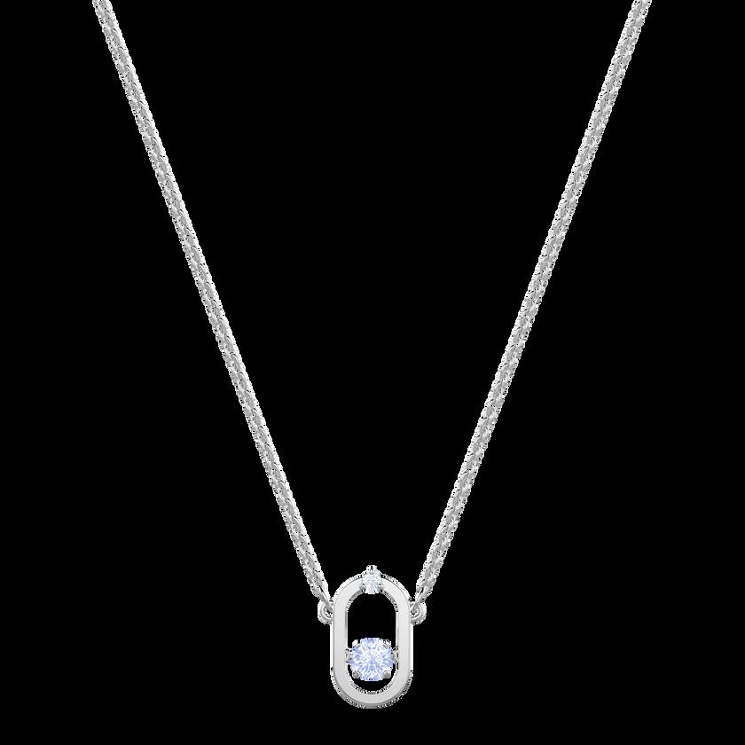 North Necklace, Blue, Rhodium plating