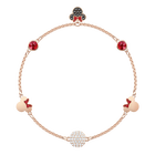 Swarovski Remix Collection Minnie Strand, Large, Multi-colored, Rose gold plating