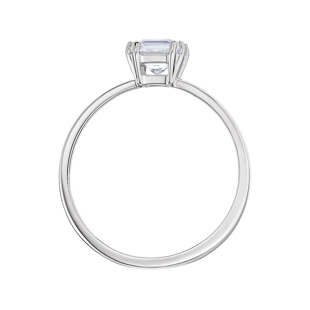 Attract Motif Ring, Rhodium plated
