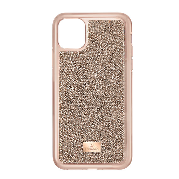 Glam Rock Smartphone Case with Bumper, iPhone® 11 Pro, Rose gold tone