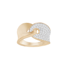 Guardian Ring, White, Rose-gold tone plated