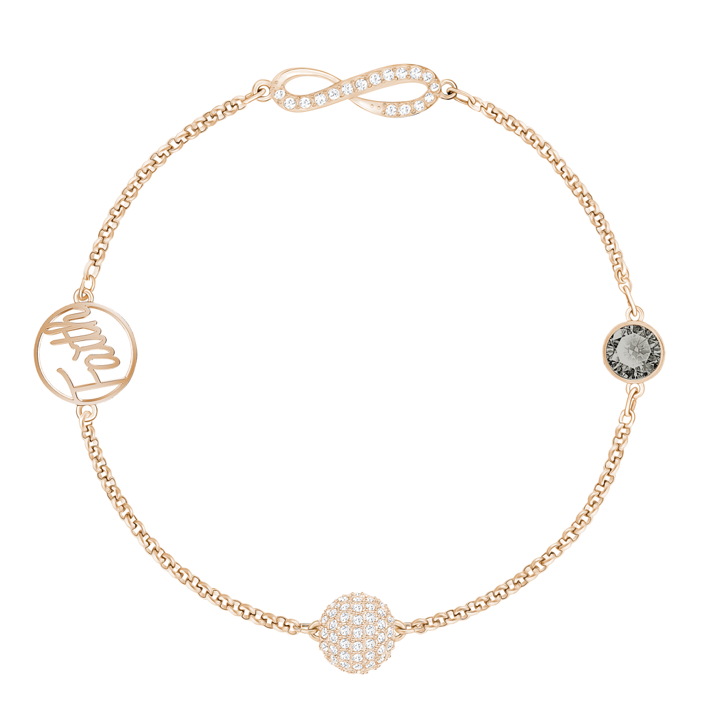 The Swarovski Remix Collection, Infinity Symbol Black, Rose Gold Plated